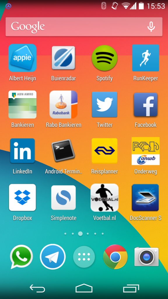 Screenshot Android apps