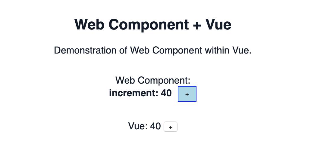 Web Component + Vue
